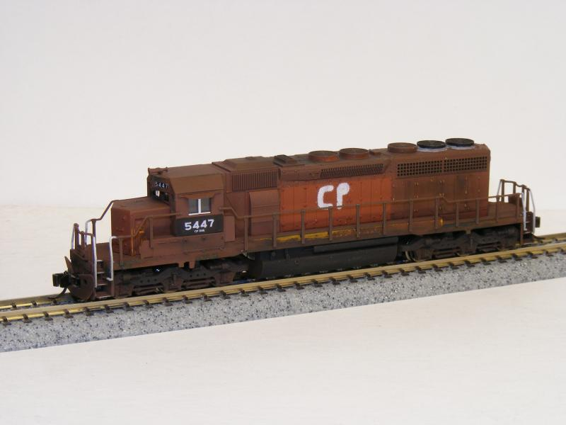 Custom painting for n scale